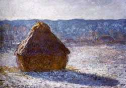 Haystack in Winter, by Claude Monet