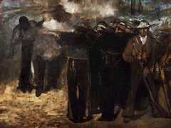 The Execution of Emperor Maximilian of Mexico, by Edouard Manet