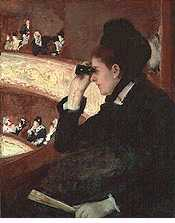 In the Loge (at the Francais, a Sketch) by Mary Cassatt